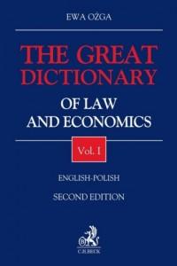 The Great Dictionary of Law and Economics Vol I English - Polish - okładka książki