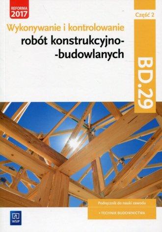 Wykonywanie i kontrolowanie robót - okładka podręcznika
