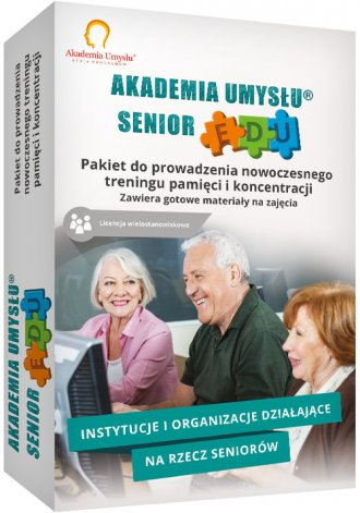 Akademia Umysłu Senior wersja Edukacyjna. - pudełko programu