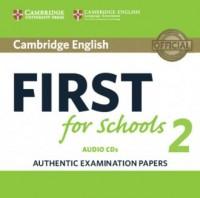 Cambridge English First for Schools 2 2CD - pudełko programu
