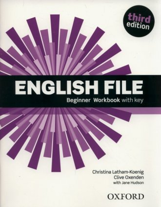 English File Beginner Workbook - okładka podręcznika