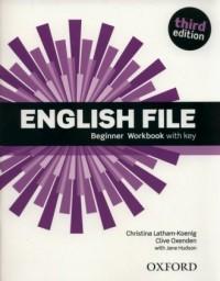 English File Beginner Workbook with Key - okładka podręcznika