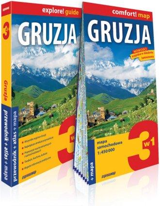 Gruzja 3w1: przewodnik + atlas - okładka książki