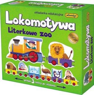 Lokomotywa Literkowe Zoo. Układanka - zdjęcie zabawki, gry