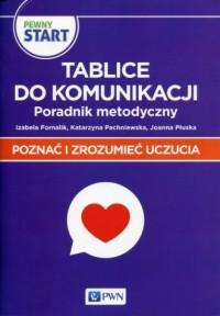 Pewny Start Poznać i zrozumieć uczucia Tablice do komunikacji Poradnik metodyczny - okładka książki
