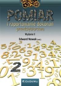 Pomiar i raportowanie dokonań przedsiębiorstwa - okładka książki