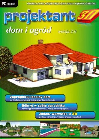 Projektant 3D. Dom i Ogród wersja - pudełko programu