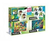 Superkit Ben 10 Puzzle 2x30 +Memo +Domino - okładka książki