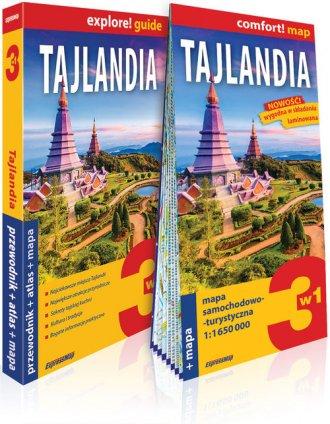 Tajlandia 3w1: przewodnik + atlas - okładka książki