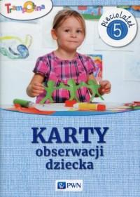 Trampolina Karty obserwacji dziecka Pięciolatek - okładka książki