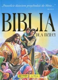 Biblia dla dzieci. niebieska - okładka książki