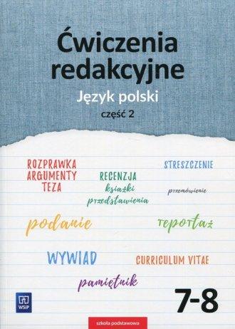 Ćwiczenia redakcyjne 7-8. Szkoła - okładka podręcznika
