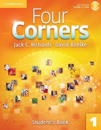 Four Corners 1 Students Book with - okładka podręcznika