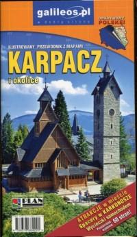 Ilustrowany przewodnik z mapami Karpacz i okolice - okładka książki