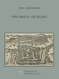 Opis miasta Szczecina - okładka książki