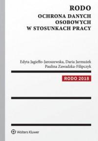 RODO. Ochrona danych osobowych w stosunkach pracy - okładka książki