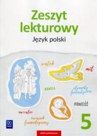 Zeszyt lekturowy. Szkoła podstawowa. Język polski 5 - okładka podręcznika