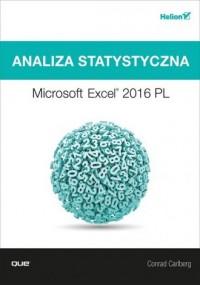 Analiza statystyczna. Microsoft Excel 2016 PL - okładka książki