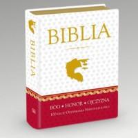 Biblia Domowa w obwolucie patriotycznej - okładka książki