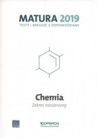 Chemia. Matura 2019. Testy i arkusze. Zakres rozszerzony - okładka podręcznika