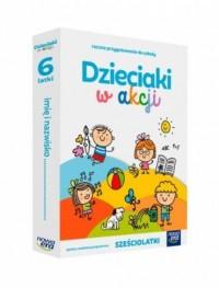 Dzieciaki w akcji sześciolatki Box. Roczne przygotowanie przedszkolne - okładka podręcznika