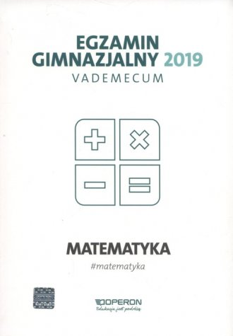 Egzamin gimnazjalny 2019. Vademecum. - okładka podręcznika