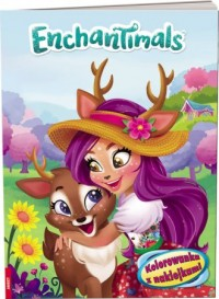 Enchantimals. Kolorowanka z naklejkami - okładka książki