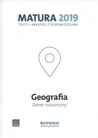 Geografia. Matura 2019. Testy i - okładka podręcznika