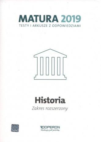 Historia. Matura 2019. Testy i - okładka podręcznika