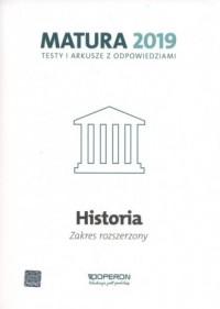 Historia. Matura 2019. Testy i arkusze. Zakres rozszerzony - okładka podręcznika