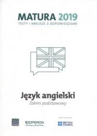 Język angielski. Matura 2019. Testy i arkusze. Zakres Podstawowy - okładka podręcznika