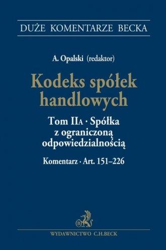 Kodeks spółek handlowych Tom II - okładka książki