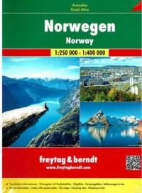 Norwegia atlas samochodowy, 1:250 000 / 1:400 000 - okładka książki