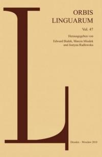 Orbis Linguarum vol 47 - okładka książki