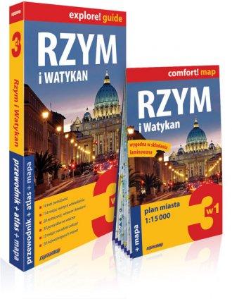 Rzym i Watykan 3w1: przewodnik - okładka książki