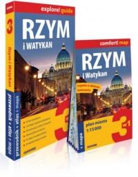 Rzym i Watykan 3w1: przewodnik + atlas + mapa - okładka książki