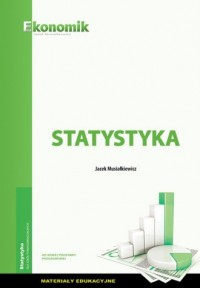 Statystyka materiały edukacyjne - okładka podręcznika