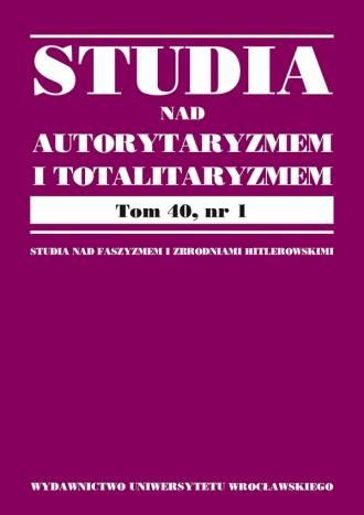 Studia nad Autorytaryzmem i Totalitaryzmem - okładka książki