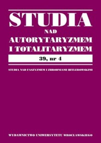 Studia nad Autorytaryzmem i Totalitaryzmem. Tom 39, nr 4 - okładka książki