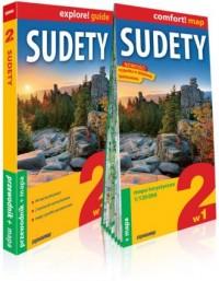 Sudety 2w1 przewodnik + mapa - okładka książki