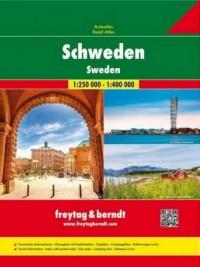 Szwecja atlas samochodowy, 1:250 000 / 1:400 000 - okładka książki