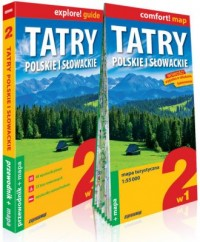 Tatry polskie i słowackie 2w1 przewodnik + mapa - okładka książki