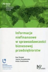 Informacje niefinansowe w sprawozdawczości biznesowej przedsiębiorstw - okładka książki