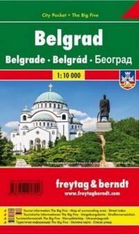 Mapa Belgrad 1:10 000 - okładka książki