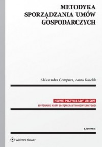 Metodyka sporządzania umów gospodarczych - okładka książki