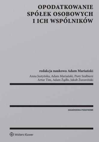 Opodatkowanie spółek osobowych - okładka książki