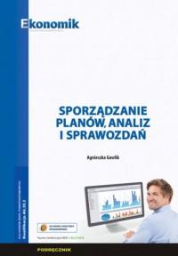Sporządzanie planów analiz i spawozdań - okładka podręcznika