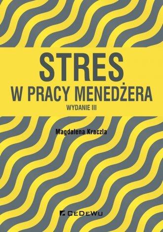 Stres w pracy menedżera - okładka książki