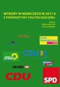 Wybory w Niemczech w 2017 r. z perspektywy politologicznej - okładka książki
