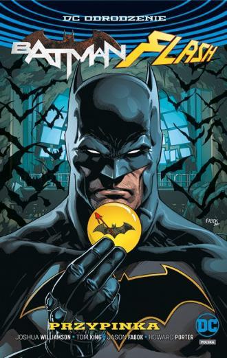 Batman Flash. Przypinka. okładka - okładka książki